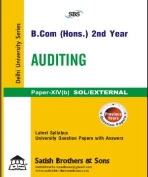 SOL/External B. Com Hons Previous 2nd Year Auditing Solved Question Paper
