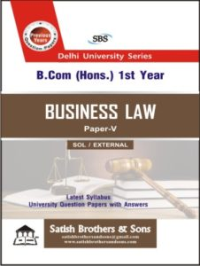 SOL/External B.Com Hons 1st Business Law Previous Year, Solved Question Paper