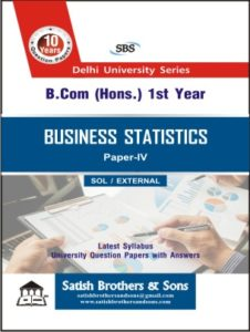 Sol/External B.Com Hons 1st Business Statistics Previous Year, Solved Question Paper
