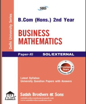 SOL/External B.Com Hons 2nd Business Mathematics Previous Year, Solved Question Paper