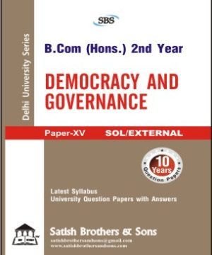 Sol/External B.Com Hons 2nd Democracy Governance Previous Year, Solved Question Paper