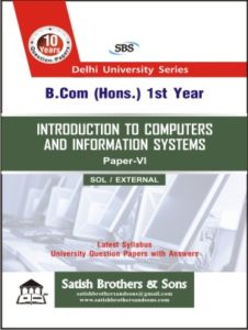 SOL/ External B.Com Hons 1st Introduction to Computer Previous Year, Solved Question Paper