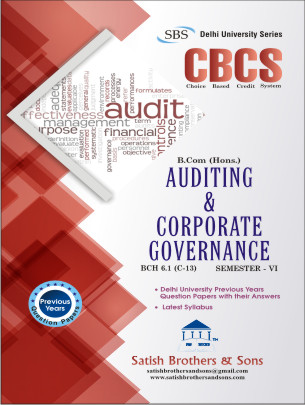 DU B.Com Hons 6th Sem Auditing & Corporate Governance Previous Year Question Paper