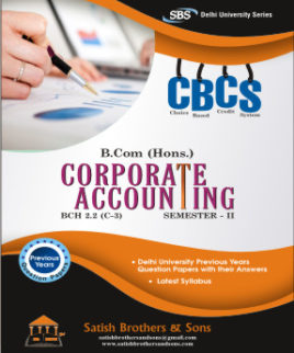 DU B. Com Hons 2nd Sem Corporate Accounting Previous Year, Solved Question Paper