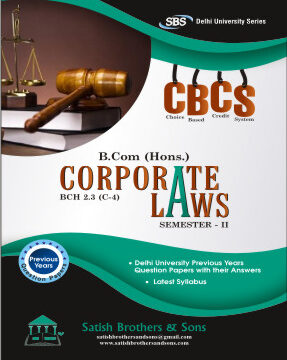 Du B.Com Hons 2nd Sem Corporate Laws Previous Year, Solved Question Paper