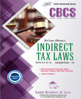 DU B.com Hons 6th Sem Indirect Tax Laws Previous Year Solved Question Paper