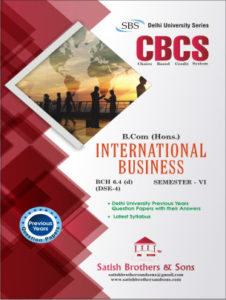 Du B.com Hons 6th Sem International Business Previous Year, Solved question paper
