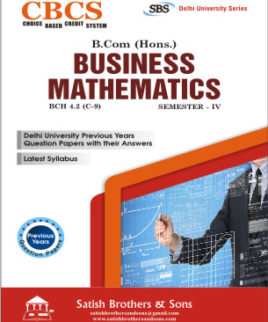DU B. Com Hons 4th Sem Business Mathematics Previous Year, Solved Question Paper
