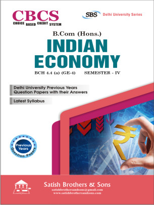 DU B.Com Hons 4th Sem Indian Economy Previous Year, Solved Question Paper