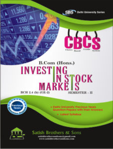 Du B.Com Hons 2nd Sem Investing Stock Markets Previous Year, Solved Question Paper